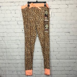 🎈Mentally exhausted PJ pants, large, leopard